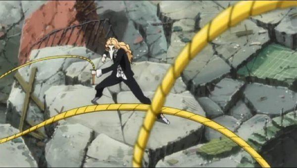 Rose using his Zanpakuto