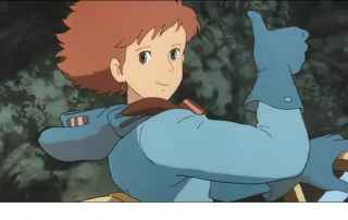 The image shows Nausicaa reassuring her men that things will be okay