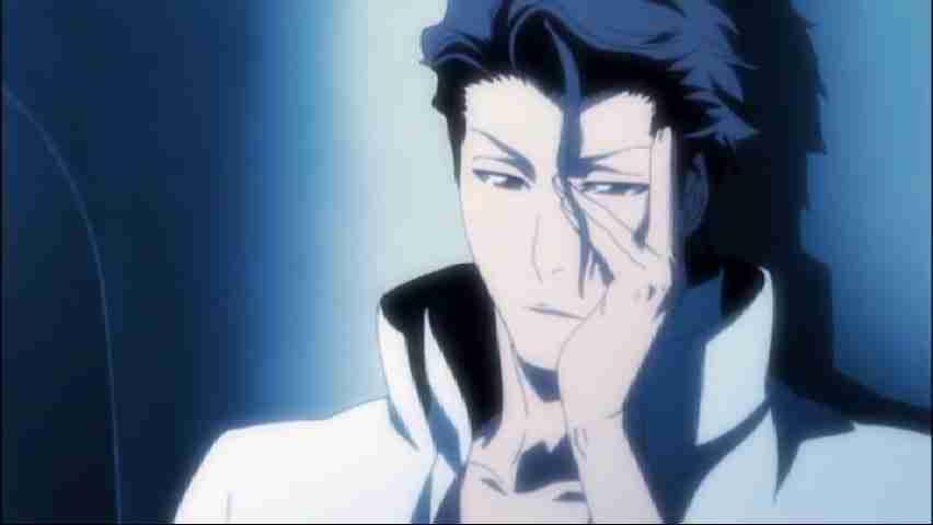 Aizen Watching Ichigo