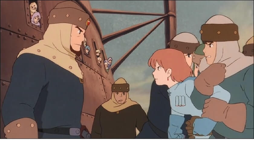 the major of pejite is arguing with Nausicaa