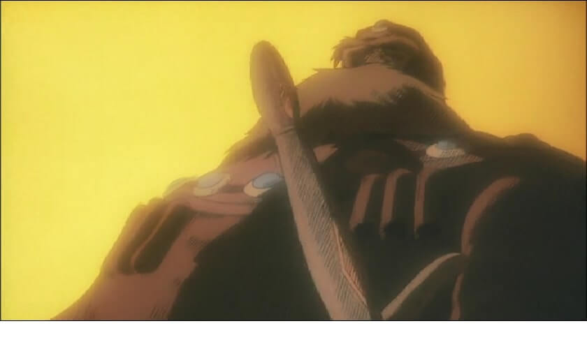 This nausicaa's father as shown in the dream sequence