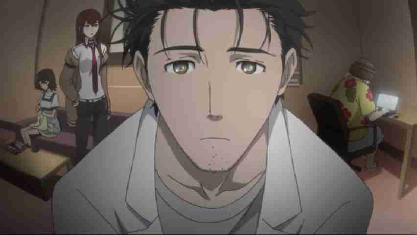 Okabe and the rest of the future gadget laboratory