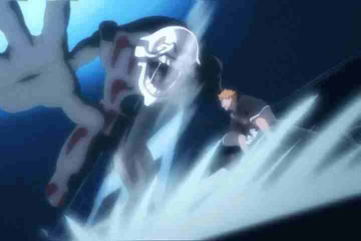 Ichigo killing his first hollow
