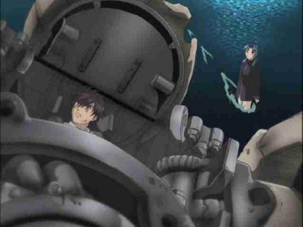 Fullmetal Panic! Sousuke in a broken Armslave