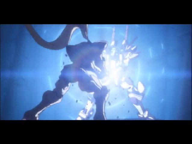 Fullmetal Panic! Gauron and Sousuke clashing