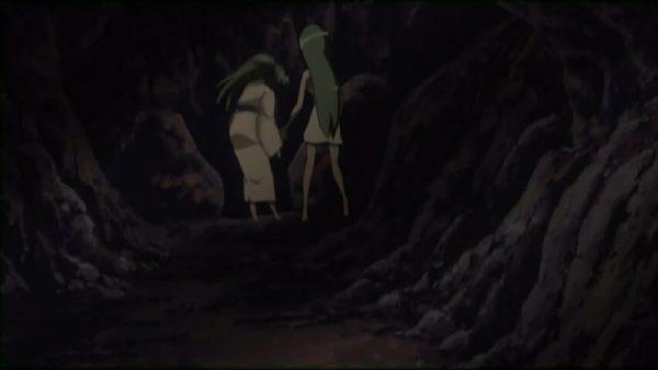 Shion killing Mion. Episode 21 at 19 mins 28 seconds