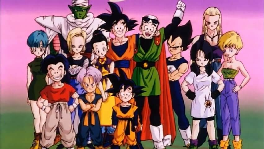 Goku and the rest of the Dragon Ball Z Characters