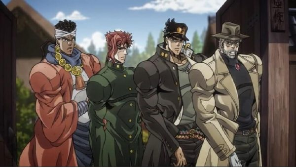 The stardust crusaders before they head out to Egypt.