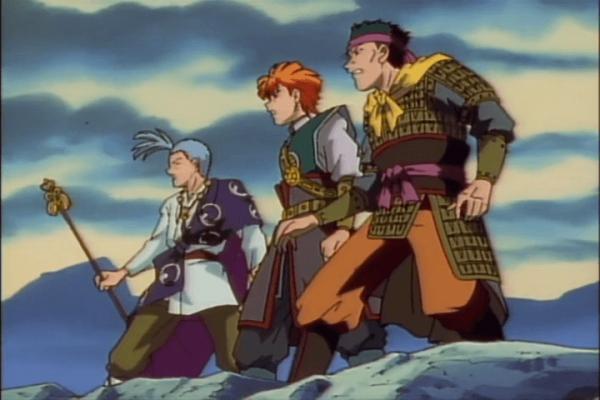 Fushigi Yuugi Episode 46 Tamahome, Chichiri, and Tasuki