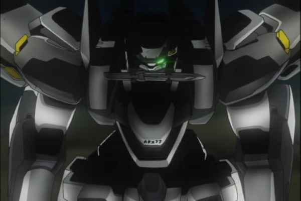 Sousuke in the ARX-7 Arbalest Full Metal Panic Episode 7 at 7min 2 sec.