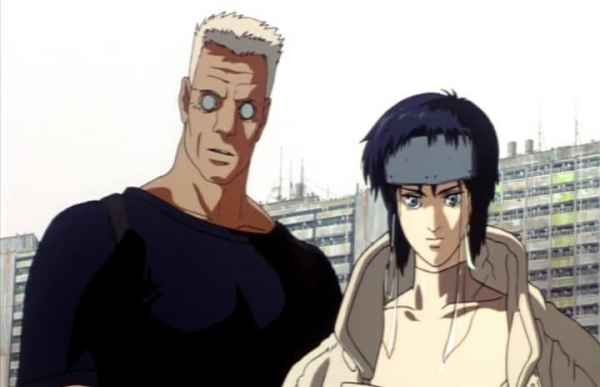The Major and Batou Ghost in the Shell at 24 min 11 sec