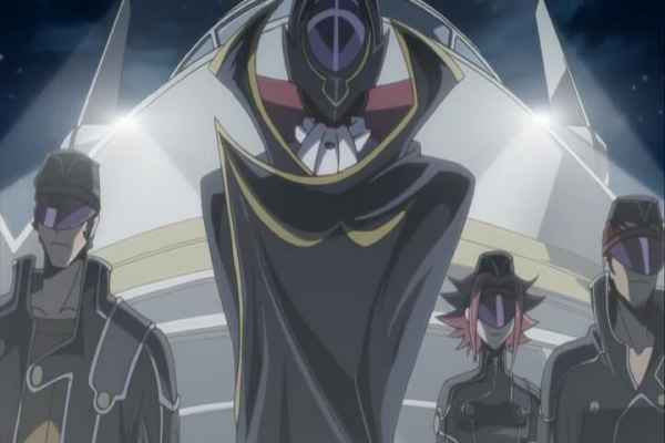 Zero first introducing the Black Knights. which order should I watch code geass? Code Geass R1 Episode 8 at 21m 14s