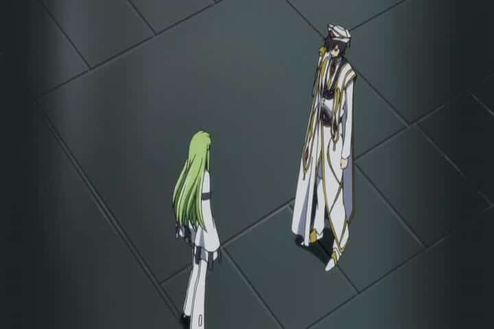 Lelouch confessing his love for C.C. Code Geass R2 Episode 24 at 8m 12s