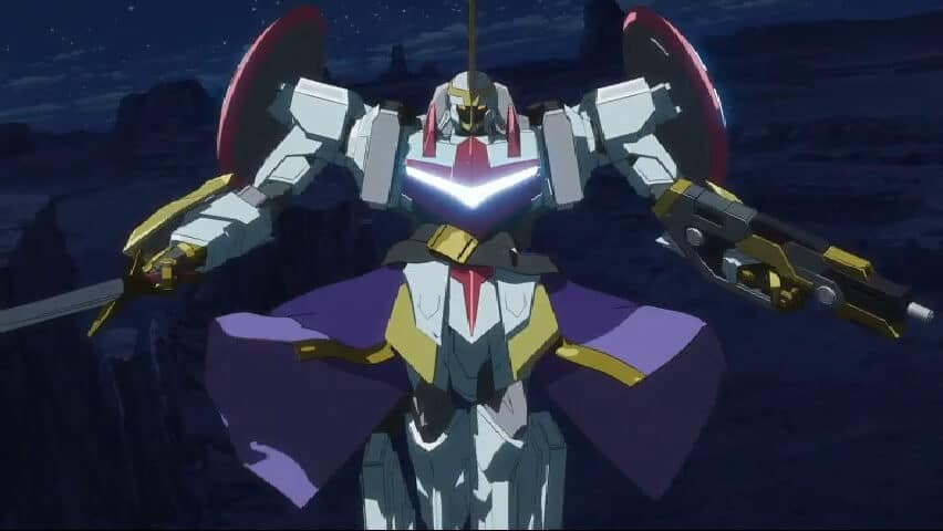 The Nagid Shu Mane fighting the Lancelot. Code Geass Lelouch Of The Ressurection At 1h 13m 5s