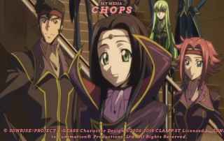 The Black Knights Wearing Zero's outfit. Code Geass R2 Review Feature Image