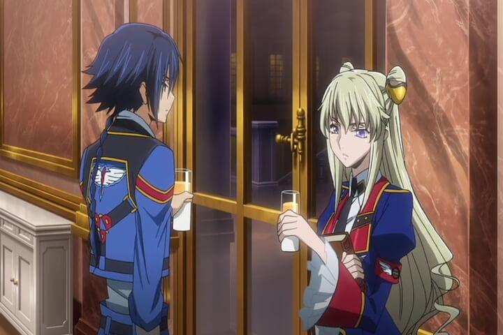 Leila and Akito at a party. AkitoTheExiled OVA1 At 19m26s