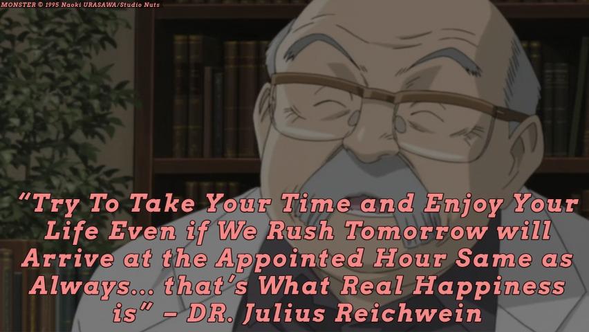 DR. Reichwein talking to EVA. Monster episode 27