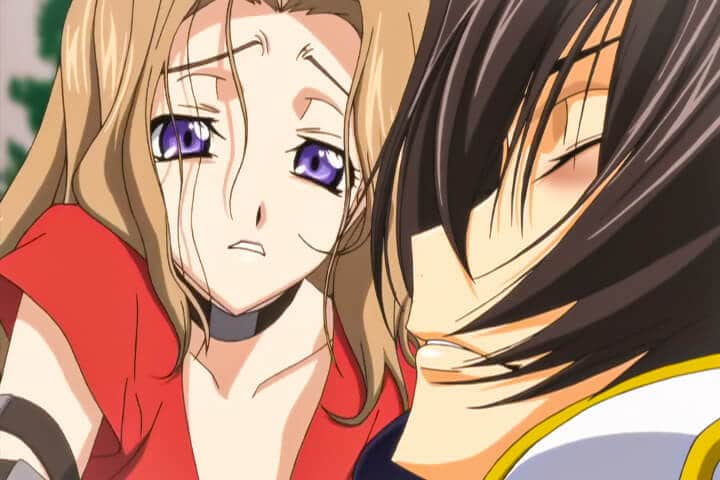 Nunnally mourning Lelouch's death. Code Geass R2 Turn 25 At 20m 01s