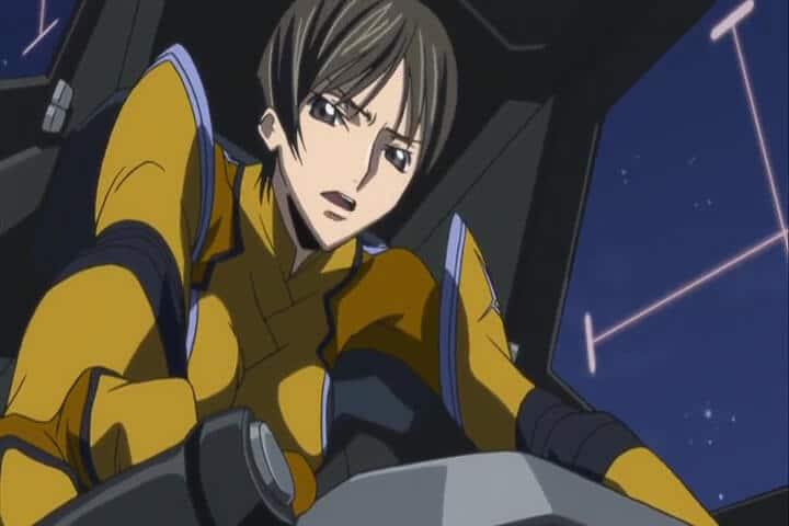 Chiba piloting the Akatsuki. Code Geass R2 Turn 18 At 07m 37s