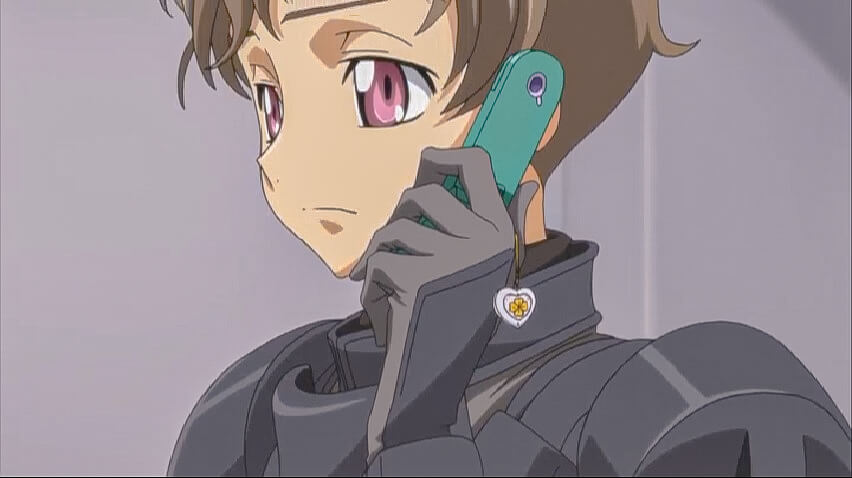 Rolo talking with Jeremiah. Code Geass R2 Turn 19 At 5m 02s