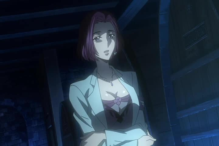 Sophie Randle talking with Joe Wise. Code Geass Akito the Exiled - The Wyvern Divided Eng Dub At 9m 57s